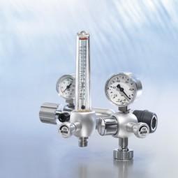 O2-Kombieinheit mit Flowmeter mit Messröhre