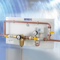 Anschlusstafel für Sauerstofftank Typ 2 (mit Druckminderer)