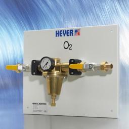 Anschlusstafel für Sauerstofftank Typ 1 (Cu-Rohr Ø 28 mm)